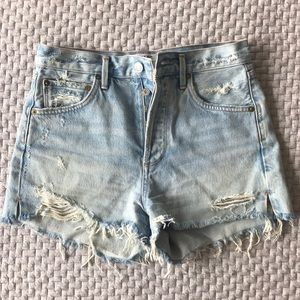 Agolde high rise denim shorts